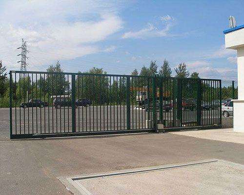 Откатные промышленные ворота